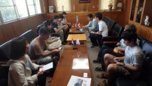 彼杵町役場との会議